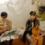 花で絵を描く演奏会「七夕の夜のバロック」